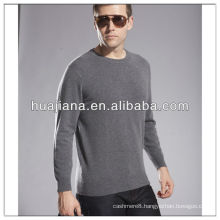 100% cashmere men's flat knitting basic sweater