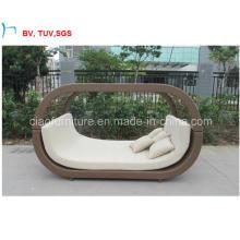 Cama de sol de mobília de jardim de natação de pátio (CF1279H)