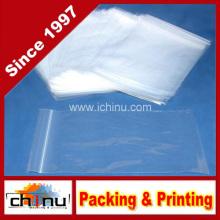 Bolso plástico de la cremallera de la cremallera que envía los bolsos (940015)