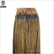 """Straight 18"""" Brazilian 100% Human Virgin Remy Hair Extension Thread Knotted Hair with Elastic Thread"""