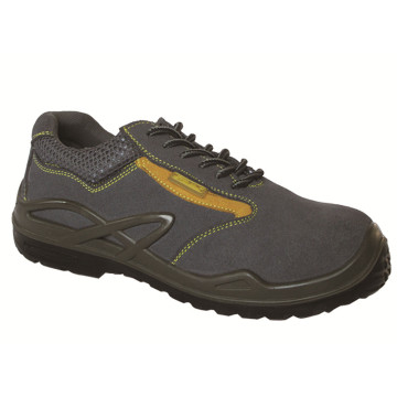Ufa028 Sports Style Metalfree Suede Leather Safety Shoes