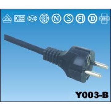 Vendemos cabos montagem euro powerleads UE Europeu extensão fio de ligação