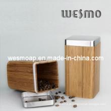 Utensílios de cozinha práticos e Duarble carbonizados Bamboo Canister
