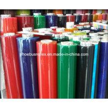 Transparente farbige reflektierende PVC