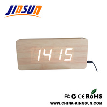 New Wooden Wall Led Clock Decorative Model