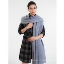 Coleção NOVA mulheres tamanho grande super sensação lenço de malha de malha de caxemira