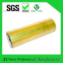 Cinta de embalaje adhesiva BOPP amarillenta caliente del derretimiento