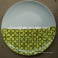 Moderne Abziehbild keramische weiße Platte