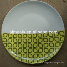 Decalque moderno cerâmica placa branca