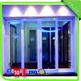 Aluminium glass lift and slide door frame