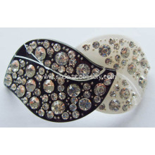 Leaves Acrylic Rhinestone Buckle