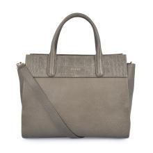 Simple Square Leather Elegant Office Lady Briefcase Handbag