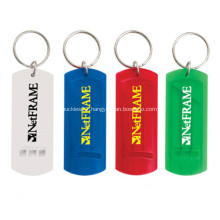 Plastic Whistle Key Chains with Logo