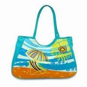 Beach Towel Bag, Made of Water-resistant Nylon, Various Colors, Sizes and Designs are Available