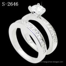 New Fashion Jewelry 925 Silver Rhodium Ring (S-2646. JPG)