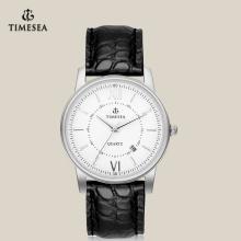 Homens marca relógio de quartzo com japão Movt pulseira de couro 72175