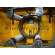 Triturador de tubos de grande diâmetro e unidade de britagem