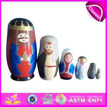 2016 bunte Russland Holzspielzeug, Matroschka Holzpuppen Spielzeug, intellektuelles Baby Holzspielzeug W06D038