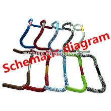 Braçadeiras de guiador de bicicleta Fita e alças / bolsa o guindaste composto de 1,9 cm de densidade de densidade com alças Preto
