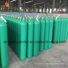 Cylindre de gaz CO2 avec couleur verte