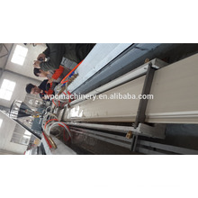 made from recycled wood and plastic---wood plastic WPC profile extrusion machine