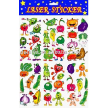 Cartoon vegetable sticker