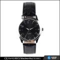 quartz stainless steel watch black color wrist watch oem