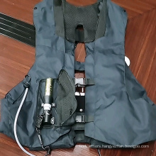 Inflatable motorcycle vest with airbag