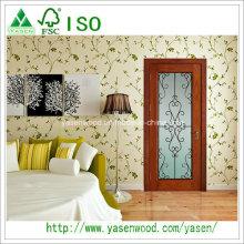 Fabriqué en Chine portes en bois massif en bois massif