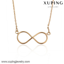 43676 18k gold necklace wholesale fashion cheap delicat elegant simple gold plated jewelry necklace