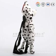 Multifunctional plush dog shaped handbag