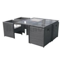 Mobiliario de mimbre Silla de jardín y mesa Patio Muebles de exterior Bt-611