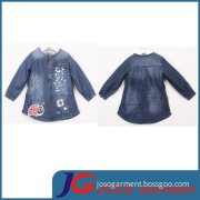 Factory Wholesale Denim Long Coat for Girls (JT5007)