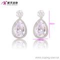 90969 xuping bijoux de fantaisie 2018 china produits de tendance produits en argent couleur bijuteria femmes boucles d'oreilles en zircone