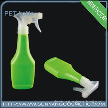 PET plastic spray bottle with spray pump