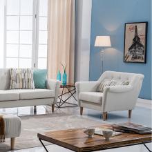 Изогнутый подлокотник серого цвета Комбинированный диван