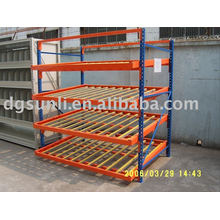 gravity warehouse rack which can be movable