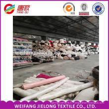 Tissu de stock de popeline de tissu de Popeline teint par T / C pour le vêtement Tissu de toile de popeline de T / C pour le vêtement de travail d'été