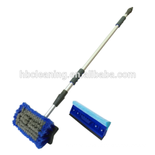 car brush with telescopic water fed pole, auto wash car wash squeegee