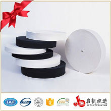 Factory price 32mm black and white cotton knitted elastic band