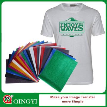 Vinil de transferência de calor QingYi glitter para t-shirt