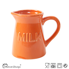 Homestyle Simple Color Glazing Emobssed Creamer