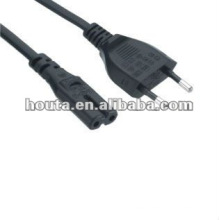 European 2 Pin Power Cable
