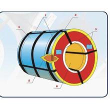 Bobinas de aço revestidas de cor PPGI para a fonte do edifício da telhadura toda a cor de Ral pelo Manufactory