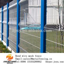 En gros fabriqué en Chine PVC enduit v bend maille panneaux ferme diviseurs de fils de sécurité soudé panneaux de clôture