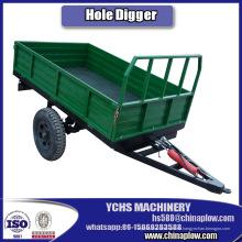 Remolque de 3 toneladas de un solo eje para tractores Jinma Bomr Yto