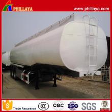 Cuello de cisne Stainess Steel Body Tri Axle Fuel Tank Semi Remolque