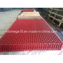 Engranzamento da tela do aço carbono elevado com cor vermelha