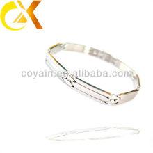 Pulseras de la cadena de pulido de la joyería de plata del acero inoxidable al por mayor