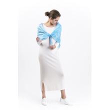 Châle carré imprimé numérique Brssb-100% Silk